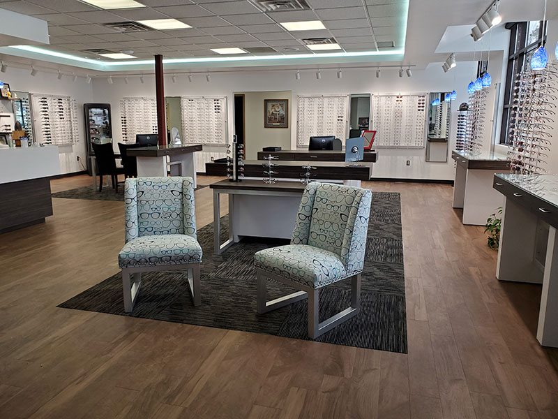 inside of lakes eye clinic